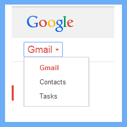 log to gmail account to transfer excel contact