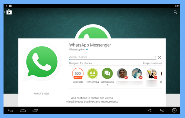 install whatsapp application