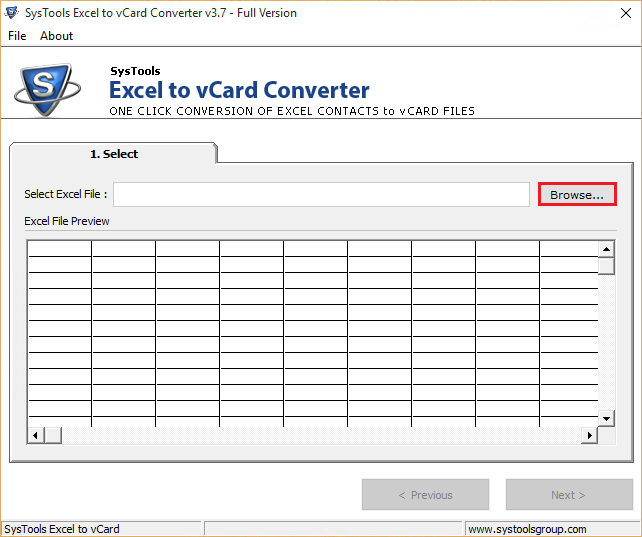 import vCard contact to windows device